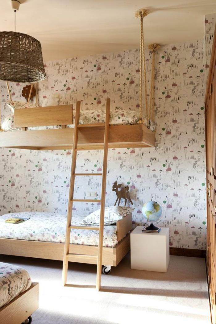 1001 ideas para decorar habitaciones infantiles - Papel para habitaciones juveniles ...