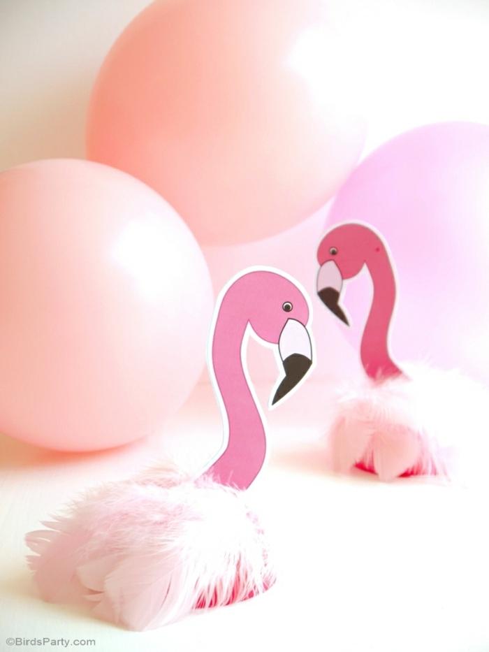 decoracion fiestas, globos en rosa, decoracion diy con flamencos