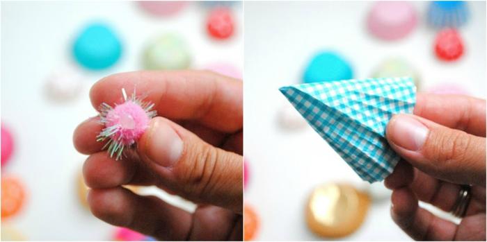 decoracion fiestas, como hacer decoraciones de papel de panques instrucciones