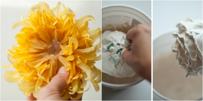 manualidades paso a paso,como hacer portavelas de flores viejos y yeso