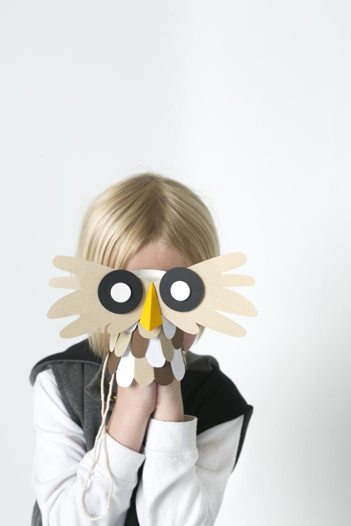 manualidades faciles para niños, como hacer disfrace de búho casero