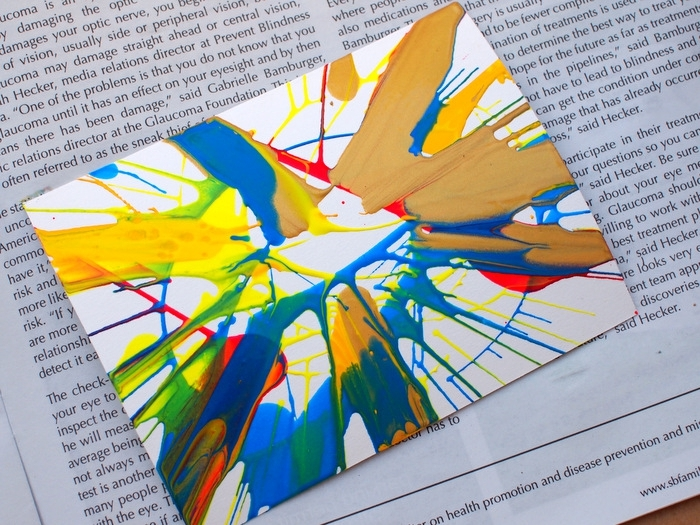 manualidades faciles para niños, arte moderno, manualidad spin art