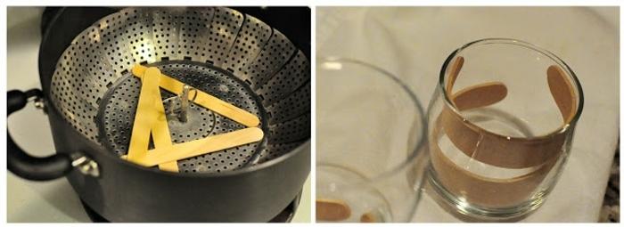 manualidades con cartulina, holla y vaso, como hacer decoracion con palitos de madera
