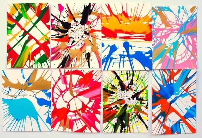 manualidades faciles de hacer, cuadros avangard, arte de giro en colores