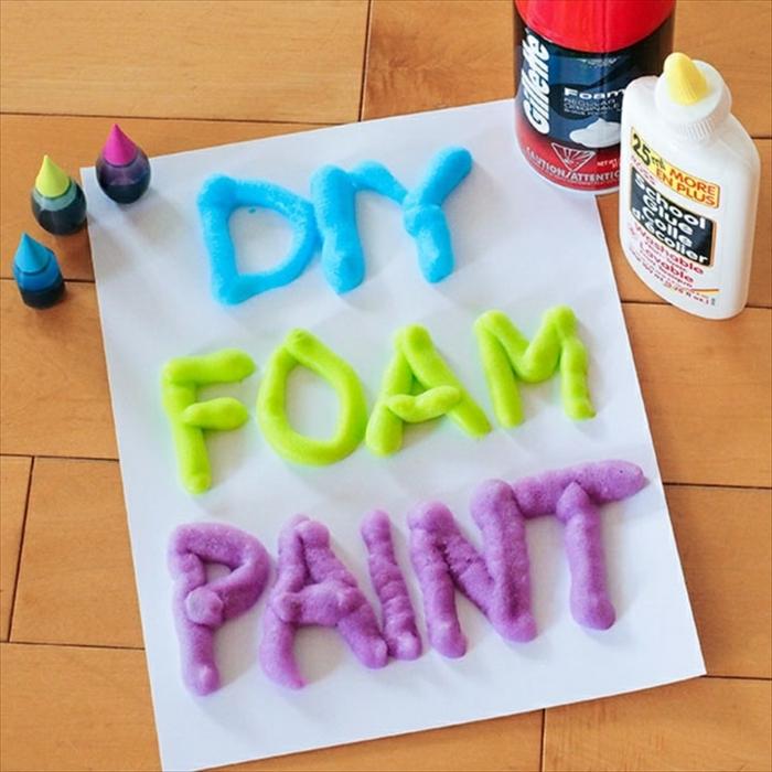 manualidades faciles, espuma en colores, actividad de ocio con tu niño