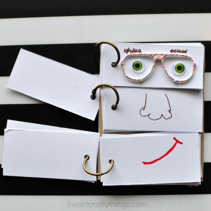 manualidades recicladas, como usar un cuaderno inútil, dibujos infantiles