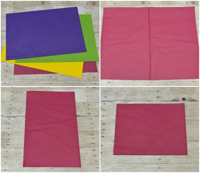 como hacer una rosa de papel, tutorial como doblar el papel para hacer flores de papel seda