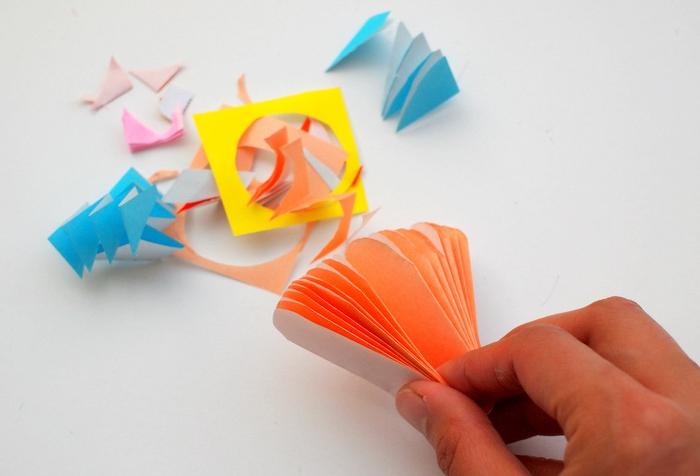 como hacer manualidades, decoración de papel, ornamento hecho a mano