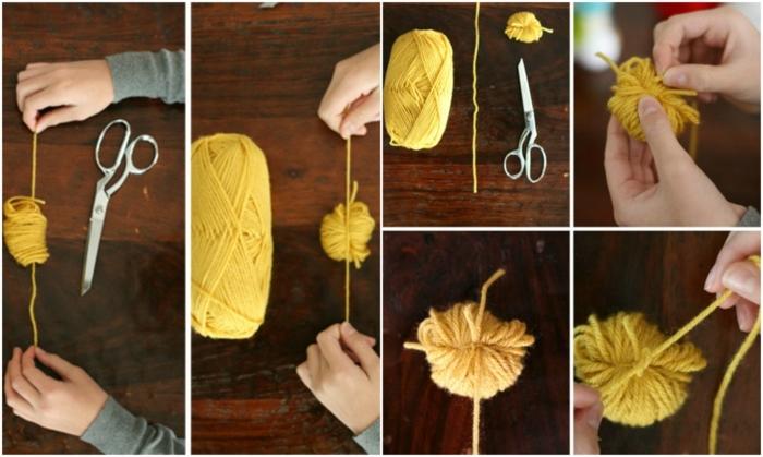 manualidades faciles de hacer, como cortar separador de libros hecho de lana