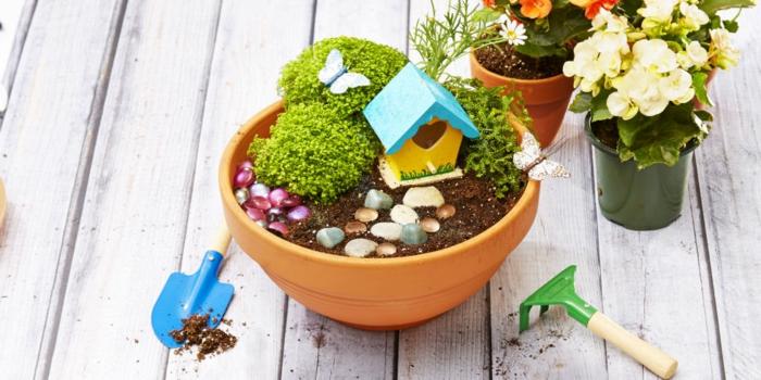 manualidades originales, decoración de plantas, peque ocio útil