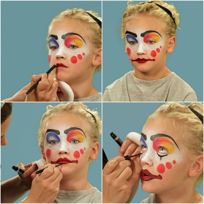 maquillaje para halloween, como maquillar un niño de payado, paso a paso