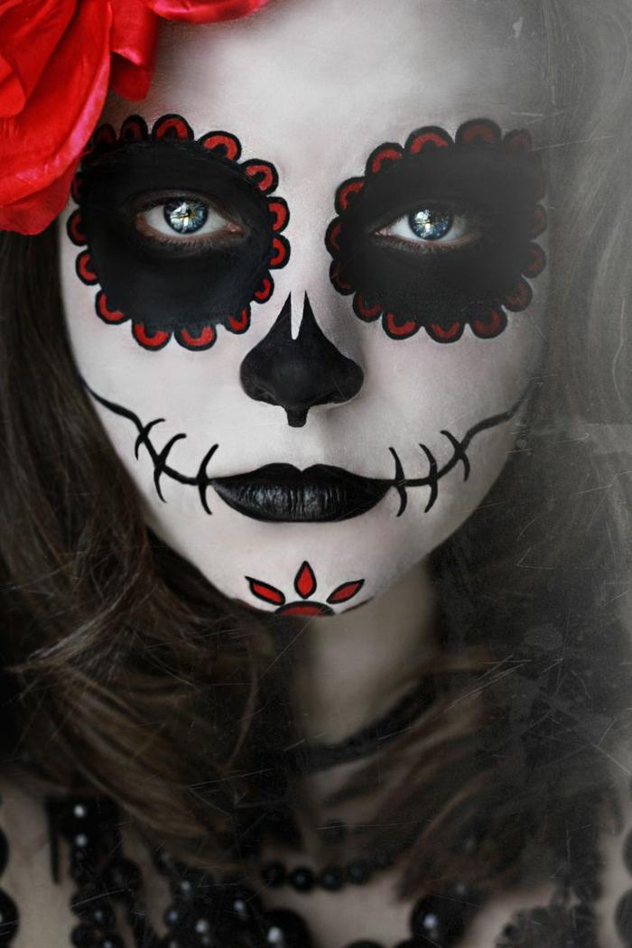 maquillaje novia cadaver, maquillaje halloween mujer calavera mexicana