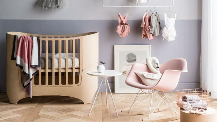 dormitorios juveniles baratos, habitación de bebé moderna, litera de madera, silla con peluche cisne, ropa de bebé