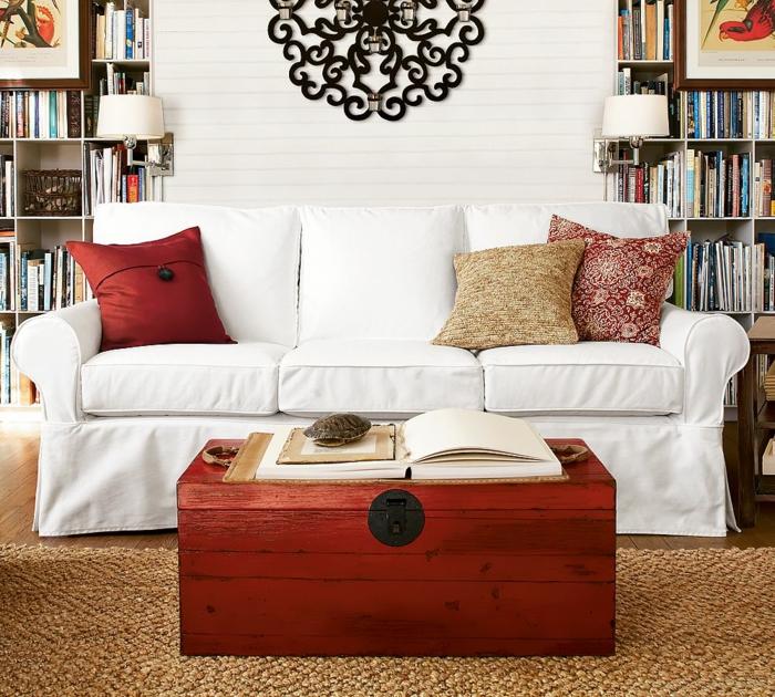1001 ideas sobre decoraci n de salones para espacios peque os for Decoracion de cajas
