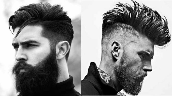 tendencias pelo 2018, tipo hipster, pelo puntiagudo, largas franjas texturizadas, juego de volumenes
