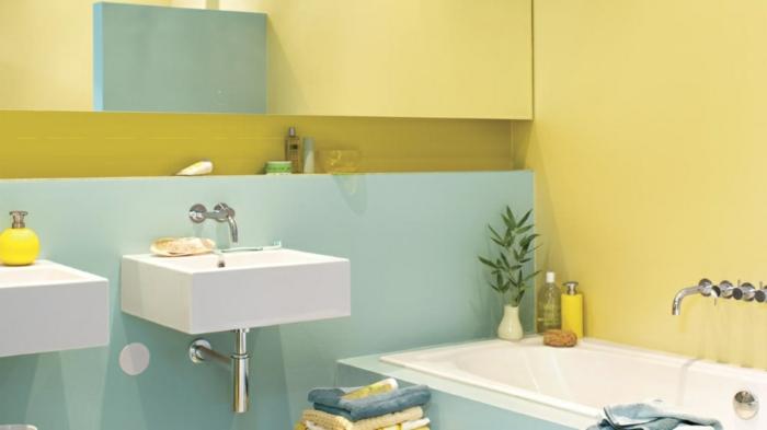 cuartos de baño pequeños, colores claros, baño moderno, lavabos pequeños