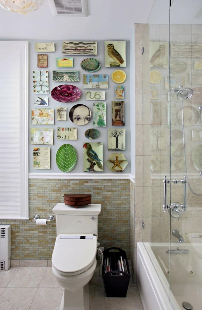 decoracion baños pequeños, decoración armónica, elementos de naturaleza
