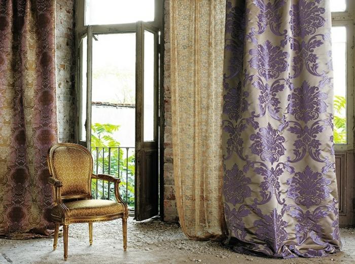 cortinas juveniles, elegante propuesta de seda color lavendar, cortinas exquisitas con detalles den dorado, visillo de encaje