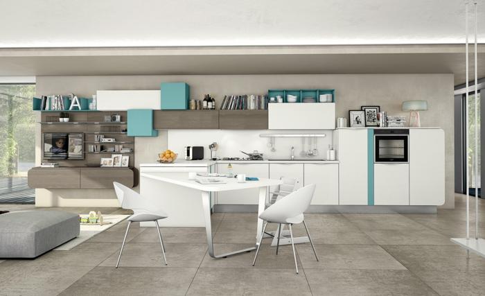Cocina blanca y azul best with cocina blanca y azul cocina moderna azul brillo cocinas suarco - Cocinas suarco ...