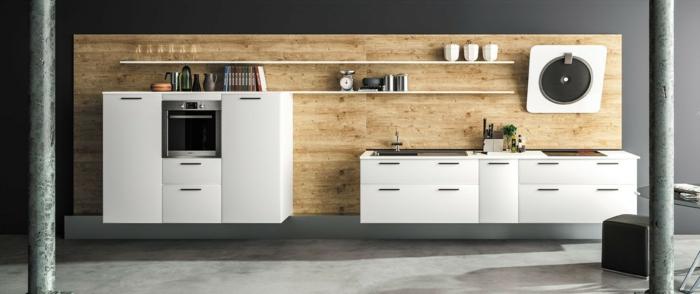 1001 ideas sobre decoraci n de cocinas blancas for Cocinas blancas con electrodomesticos blancos