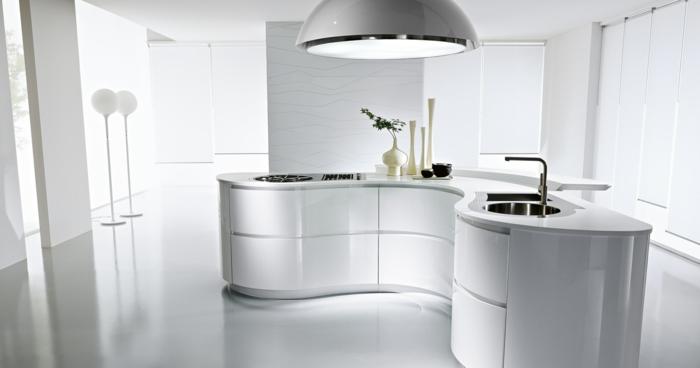 1001 ideas sobre decoraci n de cocinas blancas for Cocinas blancas con isla