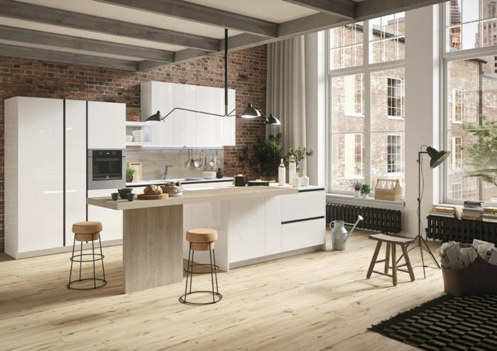 1001 ideas sobre decoraci n de cocinas blancas for Alacenas de cocina modernas