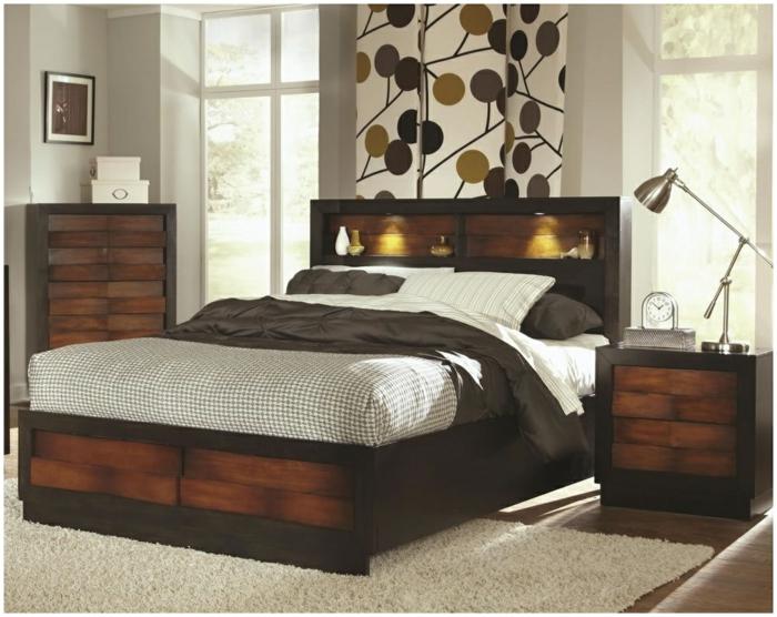 1001 ideas sobre decoraci n dormitorios estilo moderno - Lamparas para leer en la cama ...