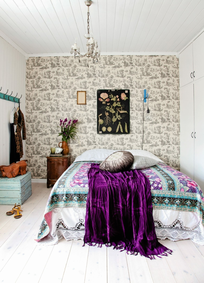1001 ideas sobre decoraci n dormitorios estilo moderno for Papel pintado suelo