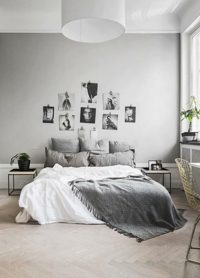1001 ideas sobre decoraci n dormitorios estilo moderno for Dormitorio matrimonio gris y blanco