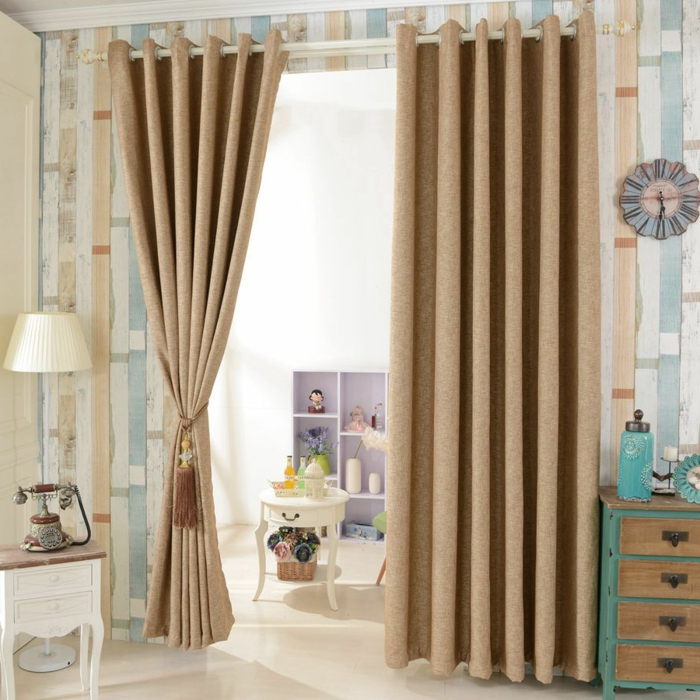1001 ideas sobre cortinas modernas y elegantes 2017 2018 for Cortinas vintage dormitorio