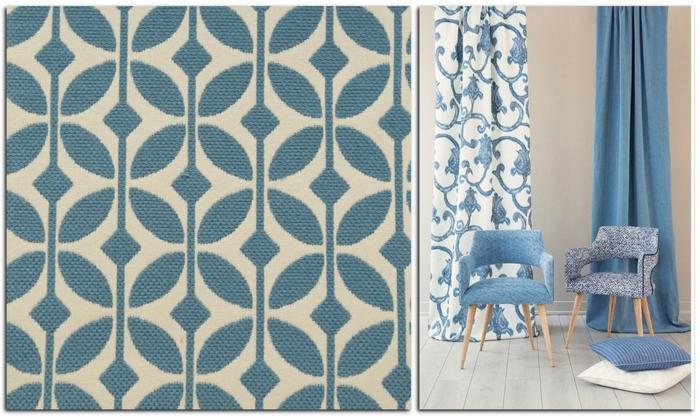 cortinas juveniles, propuesta top en los diseños de cortinas modernas, colores pasteles, tonos de azul en combinación con blanco