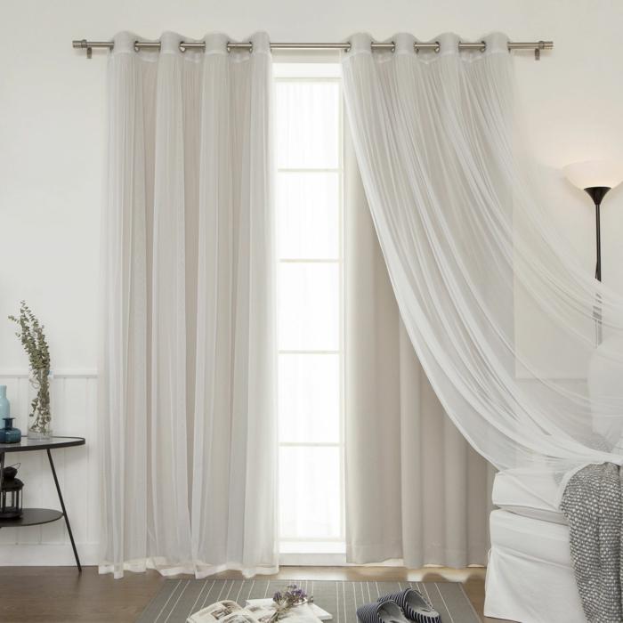 Visillos para dormitorio matrimonio visillos y cortinas for Cortinas ojales baratas