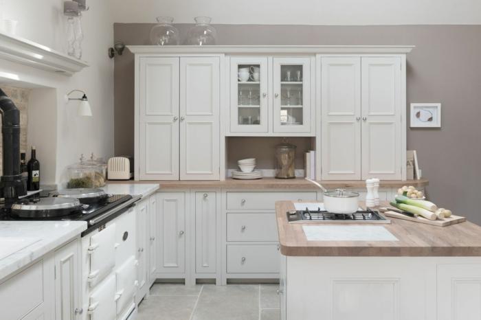 1001 ideas sobre decoraci n de cocinas blancas - Sobre encimera cocina ...