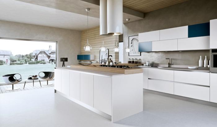 Cocinas con encimera de madera trendy cocinas con isla - Encimera madera cocina ...
