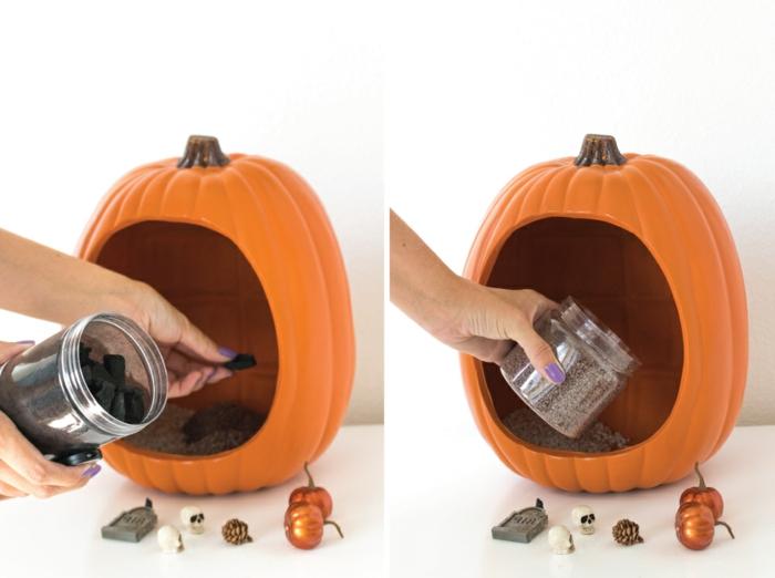 manualidades halloween, componentes para hacer un terrarium decorativo para tus fiestas de halloween 2017