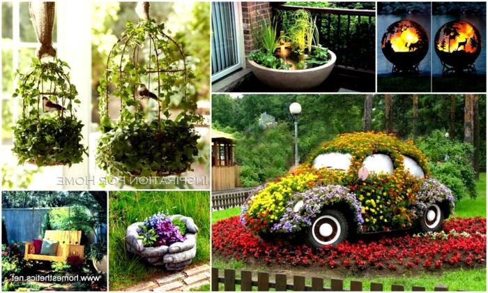 jardines con piedras, adornos originales para tu jardín, diferentes ideas caseras par embellecer tu patio