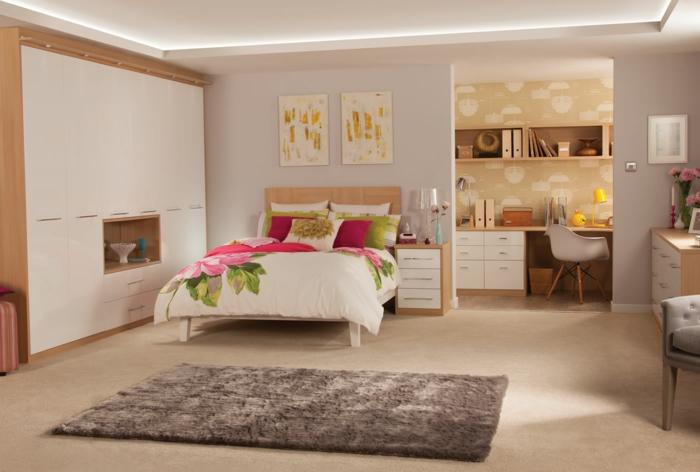 1001 ideas sobre decoraci n dormitorios estilo moderno for Escritorio dormitorio matrimonio
