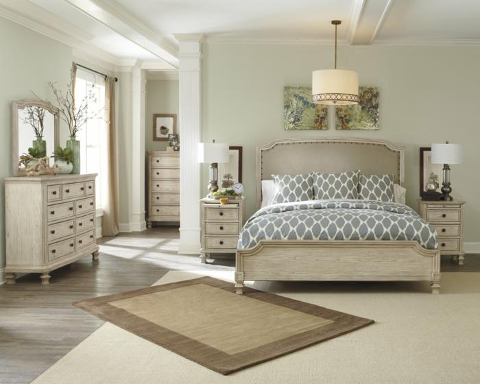 dormitorios modernos, dormitorio grande en beige, madera clara, cama doble, ventanal y tapete