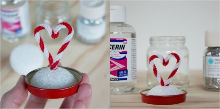 regalos de san valentin, tutorial para hacer bola de nieve casera con corazon como regalo de novios