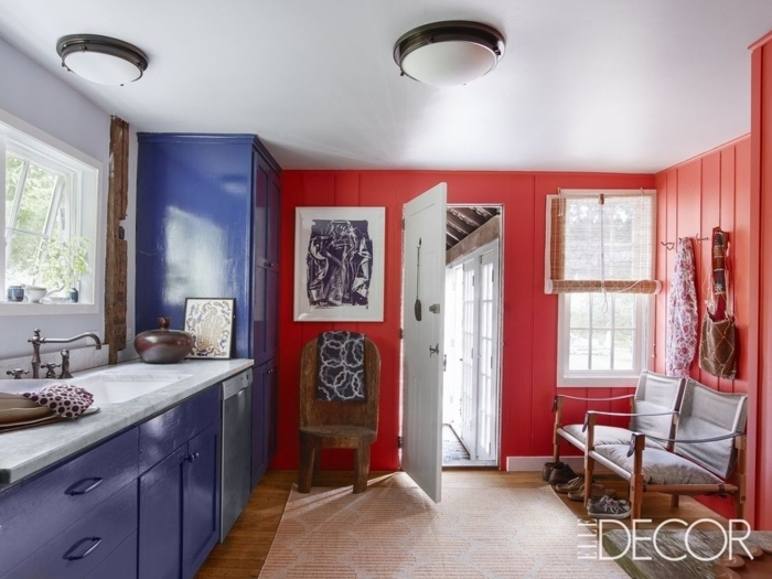 1001 ideas para organizar las cocinas peque as - Fetching images of blue and yellow kitchen design and decoration ideas ...