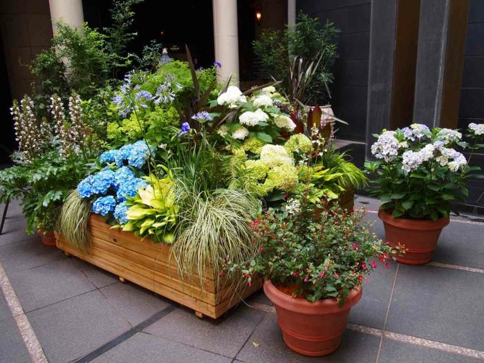 Jardineras de madera grandes simple jardineras al - Tipos de jardineras ...
