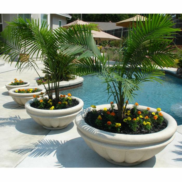 1001 ideas de decoraci n de jard n con maceteros grandes for Decoracion de patios con macetas