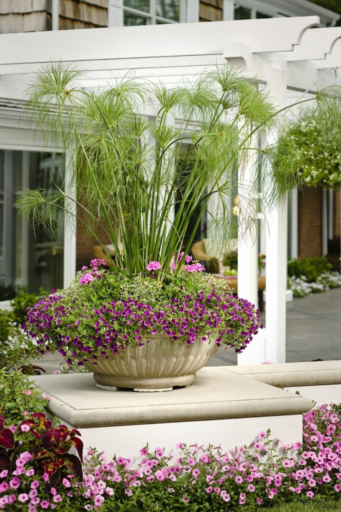1001 ideas de decoraci n de jard n con maceteros grandes for Decoracion con plantas exterior
