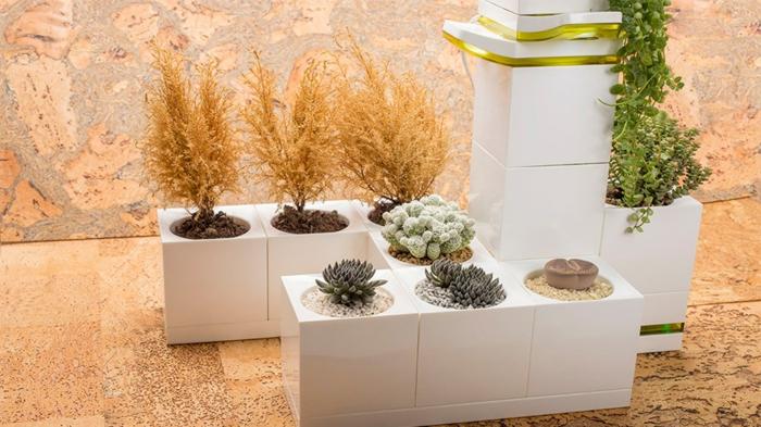 1001 ideas de decoraci n de jard n con maceteros grandes for Jardineras para interiores