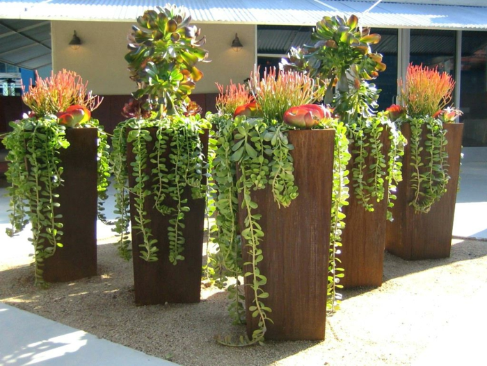 Tiestos Grandes. Good Cool Great Jardineras De Madera Decoracin De ...