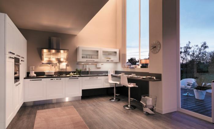 Barra madera cocina stunning cocina ikea aplad blanca for Barra cocina madera