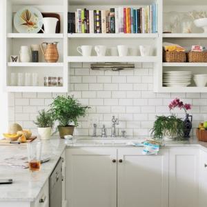 Decoración de cocinas blancas - luz y elegancia