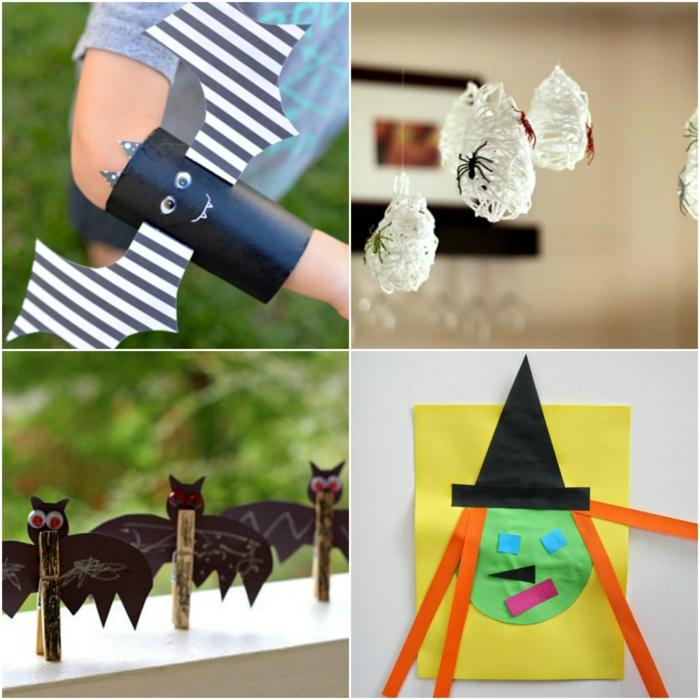 manualidades halloween para niños, cuatro ideas para tu pequeño, decoración de materiales re-utilizables