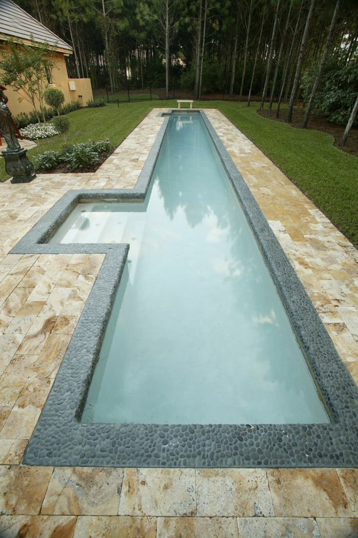 1001 ideas de piscinas peque as para tu patio Piscinas alargadas y estrechas