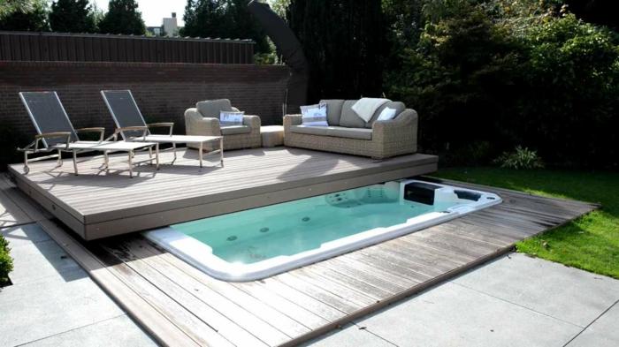 1001 ideas de piscinas peque as para tu patio for Albercas de patio
